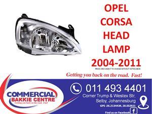 opel corsa head lamp 2004-2011