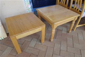 2x Wooden Coffee Tables