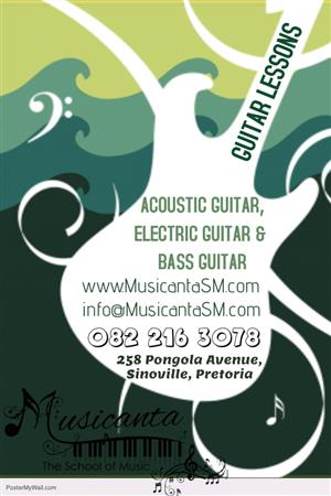 Guitar Lessons at Musicanta - The School of Music in Sinoville