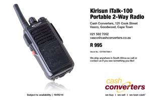 Kirisun iTalk-100 Portable 2-Way Radio