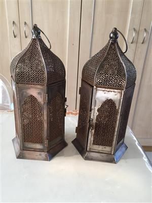 Set of oriental hurricane candle holders - price for the pair