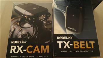 RODElink wireless audio system Fimmaker kit. Lapel Microphone