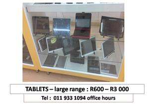 TABLETS LARGE RANGE LOOKING FOR  R600-R3000