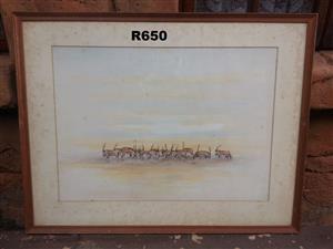 Original Wildlife 1977 Painting (840x650)
