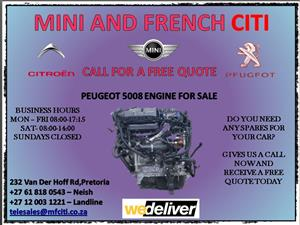 Peugeot 5008 engine head block and sump for sale