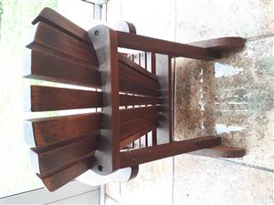 Child's wooden wingback chair