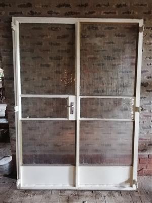 Steel window frames and doorframe