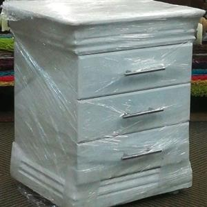 new white wood side tables with drawers