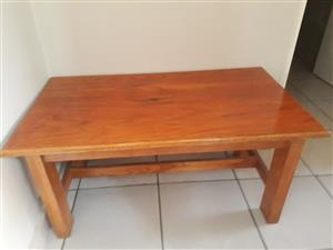 Solid oak coffee table. in immaculate condition.
