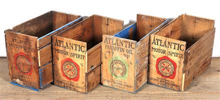 Atlantic motor spirit crates