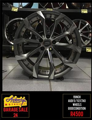 Garage Sale 24 R4500 19 inch Audi Wheels 5-112 pcd