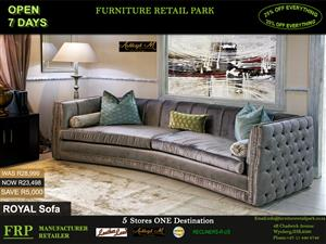 ROYAL SOFA  was R28,999 and NOW R23,498