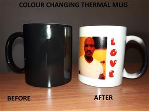 MUGS, COLOUR CHANGING MUGS,PERSONALISED BOTTLED WATER,TSHIRTS,PUZZLES WITH PICS