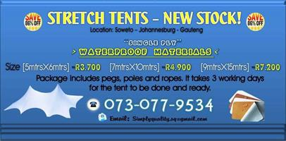 Waterproof Stretch Tent's Sale