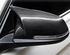 BMW M Style Mirror Cover Caps for F-Series Models - Carbon Fiber