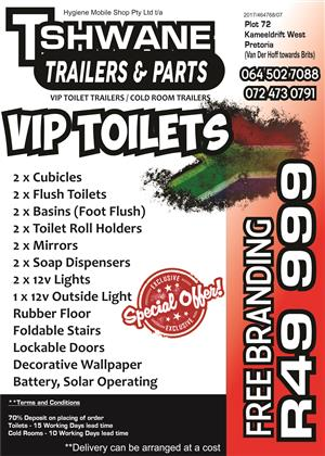 Toilet Trailers For SALE R49 999