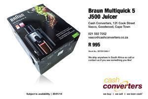 Braun Multiquick 5 J500 Juicer