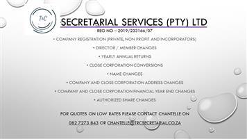 TrC Secretarial Services- Company registrations