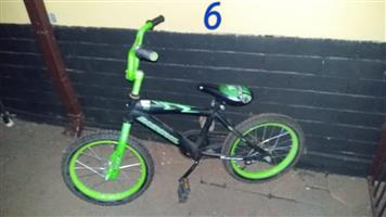 16 inch green bicycle