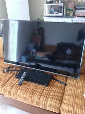 Samsung Tv and Sony Dvd player