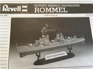 Revell Germany 1/700 Guided Missile Destroyer Rommel Vintage Plastic Kit