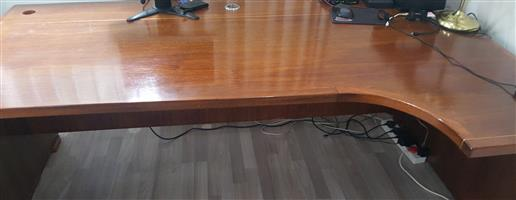 Large Desk and Credenza