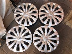 "Toyota Yaris, Corolla Runx, Aygo,Etios, 4 Rims and Hub Caps 14""."