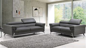 Daisy 3+2+1 lounge suite sofa set genuine leather uppers