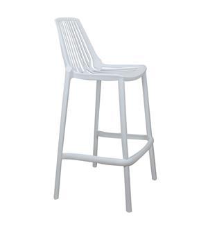Plastic Verona Barstool – White