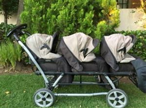 Triplet baby pram for sale