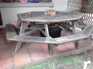 Outside 8 Seater Wooden Table
