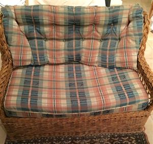 CANE LOUNGE SUITE & SLEEPER COUCH FOR SALE
