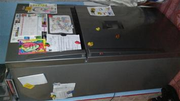 LG mettalic fridge freezer for sale