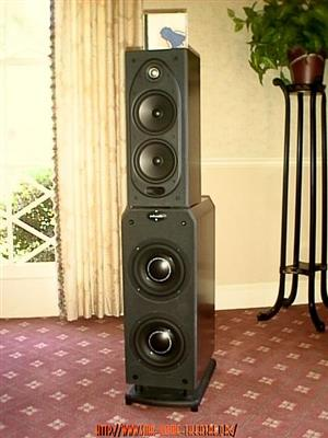 POLK RT3000P ACTIVE SUB/TOWER LOUDSPEAKERS