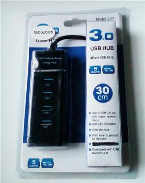Brand New 3.0 4 port USB Hub!!