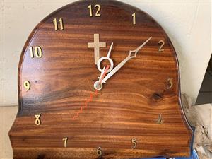 Homemade Woodern Christian Clock