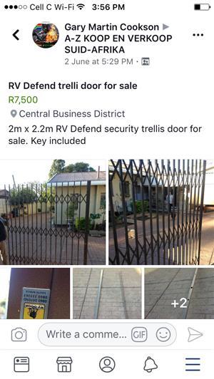 Security trellis gate
