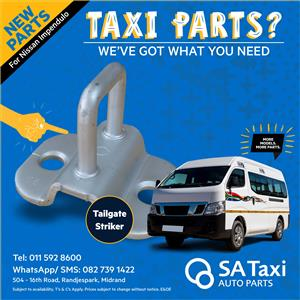 NEW Tailgate Striker for Nissan Impendulo - SA Taxi Auto parts quality spares