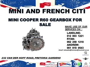 Mini cooper R60 gearbox for sale