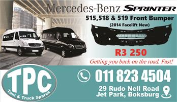 Mercedes Sprinter 515/518/519 Front Bumper - New - New & Used Quality Replacement Taxi Spare Parts.
