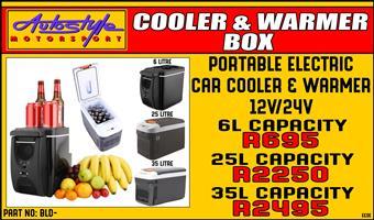 Portable electric vehicle cooler - warmer fridge box assorted sizes, 12volt DC power  Portable Electric Car Cooler/Warmer Fridge Box