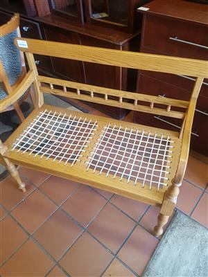 Riempies Couch . Solid oak wood .