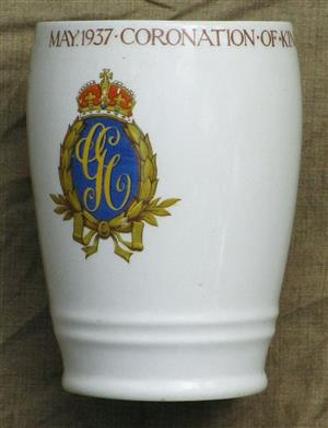 Official Coronation Cup/mug of King George VI - May 1937 (the one without a handle)  - as new