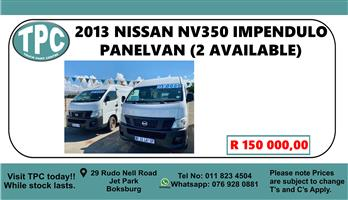 2013 Nissan NV350 panel van wide body 2.5i