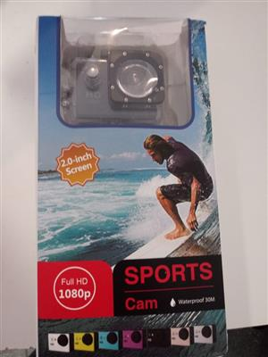 SAVE NOW: WATERPROOF HD SPORTS CAMERA 1080P - SILVER
