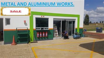1500 X 1200 SIDE HUNG ALUMINIUM WINDOW. SAFETY GLASS. ANY COLOUR ALUMINIUM