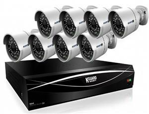 KGuard 16 Channel HD Series  8 Cameras Combo Kit