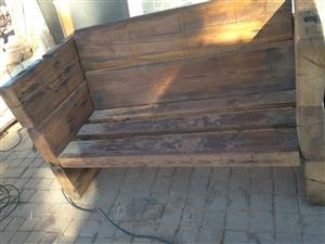 two seater couch homemade