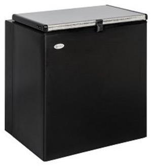 Zero Appliances Zero 120L Gas electric Chest Freezer – Black/White