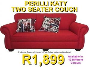 ​PERILLI KATY 2 Seater Couch - Available in 12 Different Colours